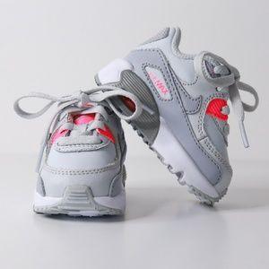 Nike Infant/Toddler Air Max 90 Sneaker in Gray
